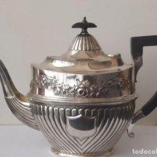 Antigüedades: ANTIGUA TETERA DE PLATA MACIZA DE LEY 925 SIGO XIX LOS AÑOS 1897. Lote 203733611
