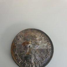 Antigüedades: ANTIGUO PLAQUE BRONCE CARLOS III AÑOS 50. Lote 203802622