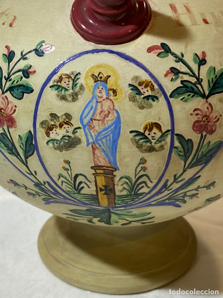 Antigüedades: Cantarilla de novia en cerámica de Onda, Castellon s.XIX - Foto 2 - 203813155