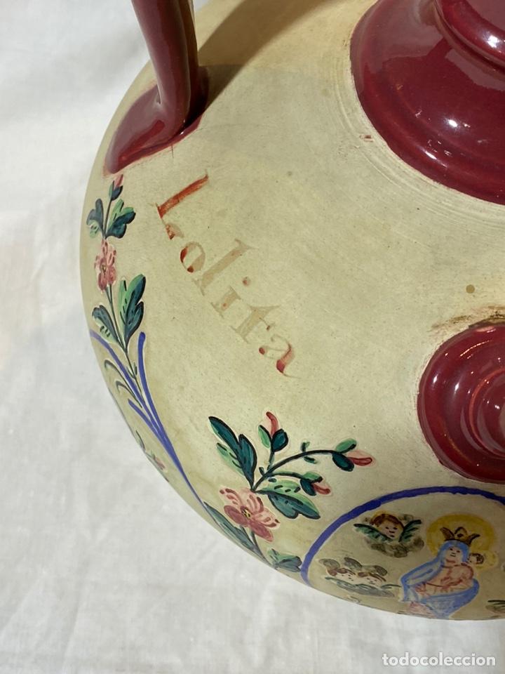 Antigüedades: Cantarilla de novia en cerámica de Onda, Castellon s.XIX - Foto 3 - 203813155