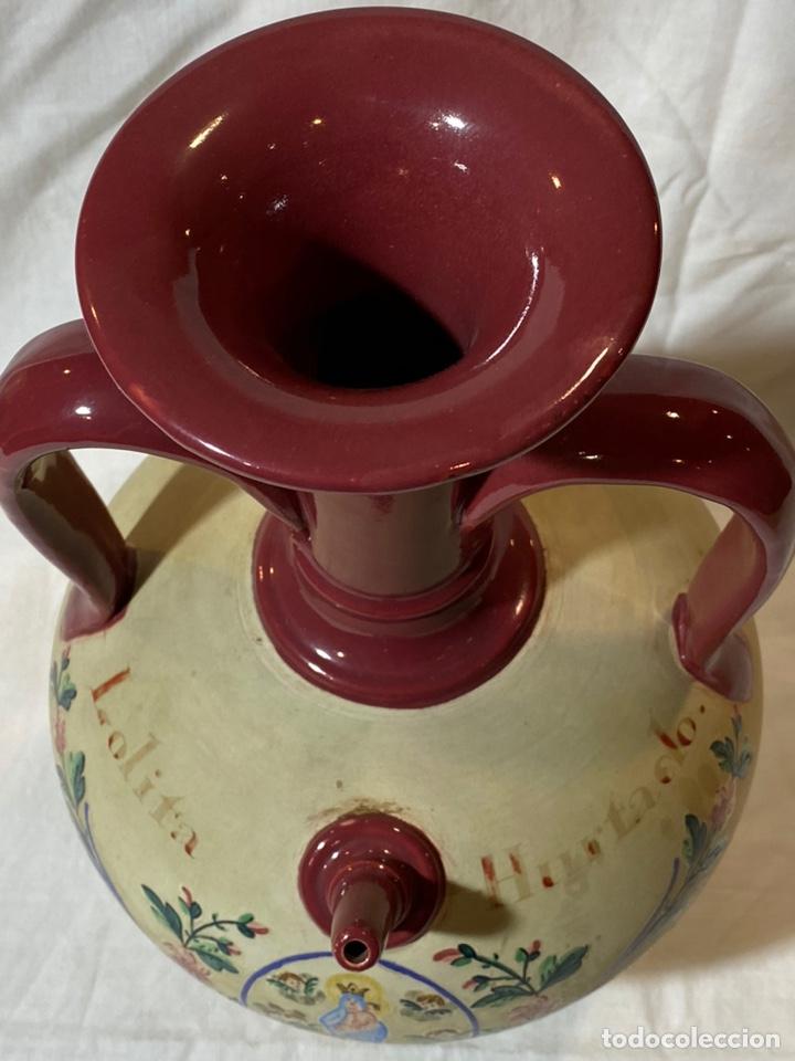 Antigüedades: Cantarilla de novia en cerámica de Onda, Castellon s.XIX - Foto 8 - 203813155