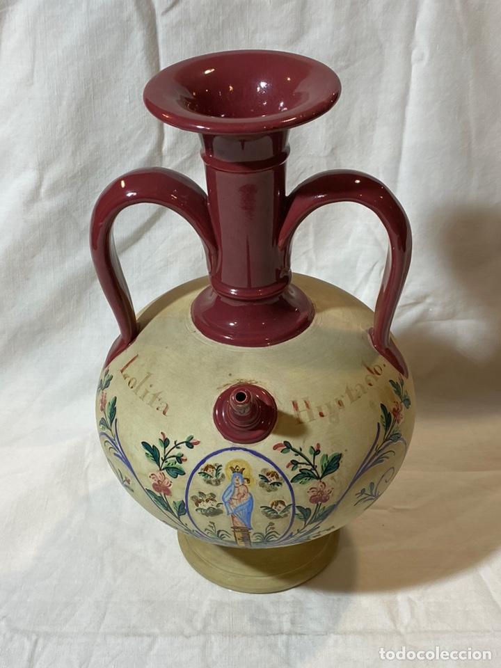 CANTARILLA DE NOVIA EN CERÁMICA DE ONDA, CASTELLON S.XIX (Antigüedades - Porcelanas y Cerámicas - Alcora)