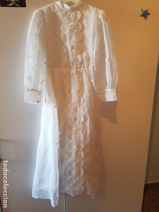 Antigüedades: Vestido de comunión español de los años 70-80 - Foto 2 - 203823173