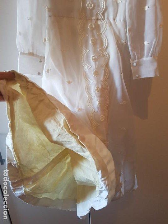 Antigüedades: Vestido de comunión español de los años 70-80 - Foto 4 - 203823173