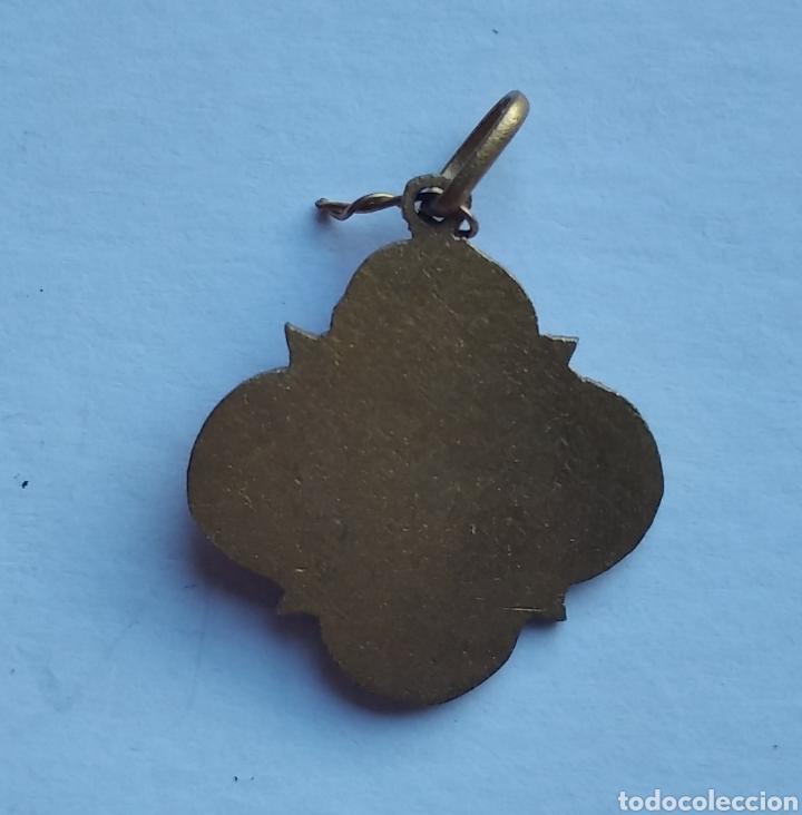 Antigüedades: Medalla religiosa antigua nuestra señora del Carmen 20 x 22 cm - Foto 3 - 203828303