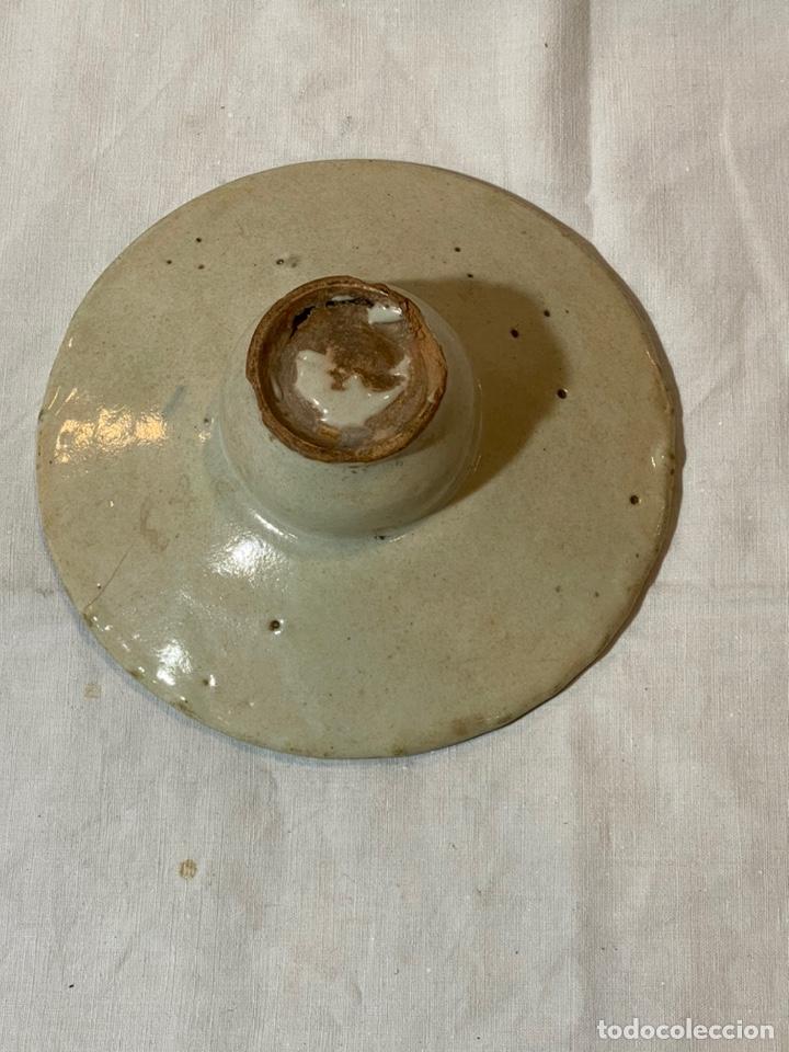 Antigüedades: Mancerina en cerámica de Puente del Arzobispo, ppios. s.XIX - Foto 3 - 203833147