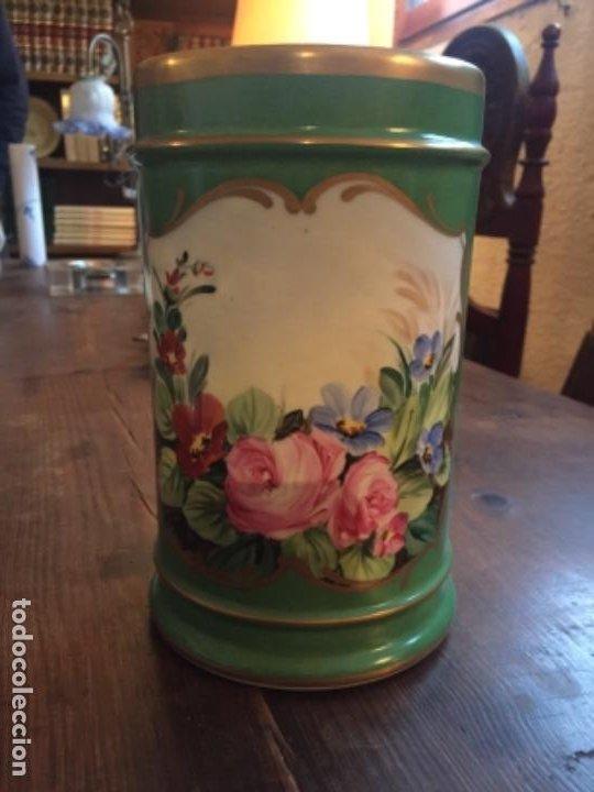 Antigüedades: Porcelana ppos.S.XX pintada - Foto 3 - 203838607