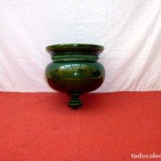 Antigüedades: MACETERO DE CERAMICA VIDRIADA PARA COLGAR.26 X 25 X 18 CM.. Lote 203839431
