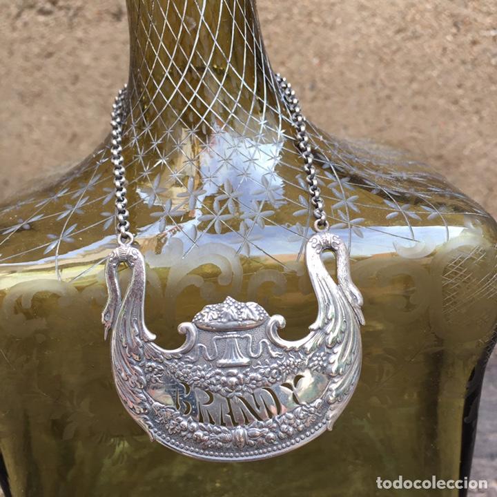 Antigüedades: Antiguo licorero (brandy)cristal y plata SXIX - Foto 14 - 203855638