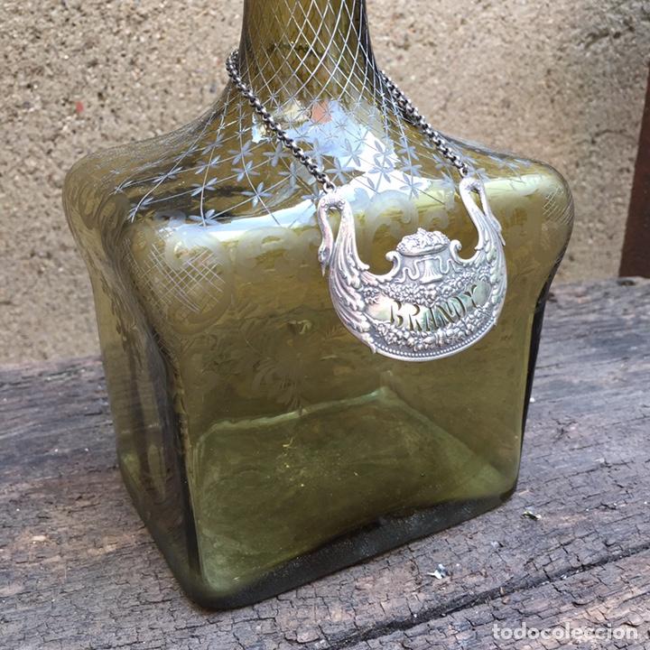 Antigüedades: Antiguo licorero (brandy)cristal y plata SXIX - Foto 15 - 203855638