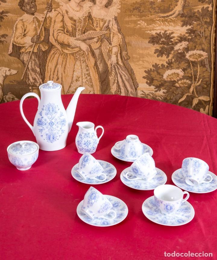 JUEGO DE CAFÉ BIDASOA ANTIGUO (Antigüedades - Porcelanas y Cerámicas - Otras)