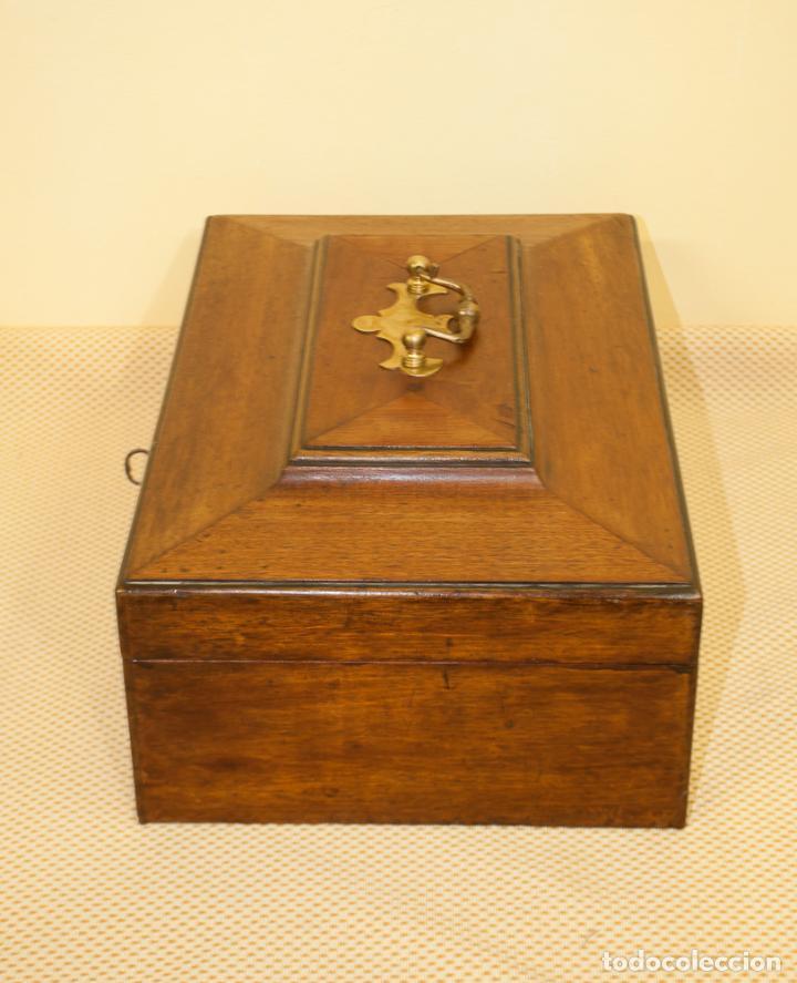 Antigüedades: BONITA CAJA DE CAOBA CON DEPARTAMENTOS - Foto 4 - 203865648