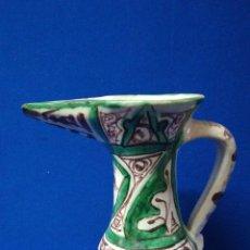 Antigüedades: GRAN JARRA ACABADA EN PICO DE CERAMICA PUNTER, TERUEL. Lote 203878455