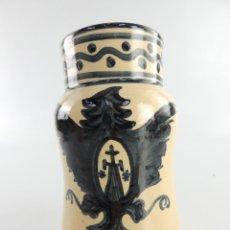 Antigüedades: ANTIGUO TARRO DE FARMACIA CERAMICA PUENTE DE ARZOBISPO EXCELENTE PIEZA. Lote 203916750