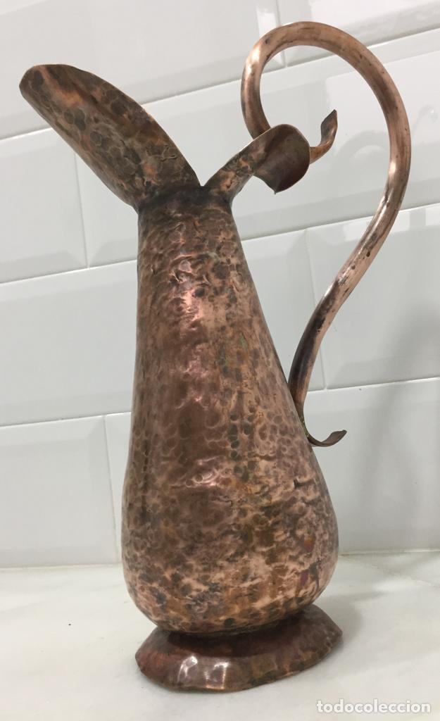 Antigüedades: ANTIGUA JARRA FRANCESA EN COBRE SIGLO XIX - Foto 8 - 203948026