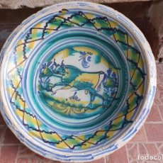 Antigüedades: ANTIGUO LEBRILLO DE TRIANA, PINTADO A MANO. Lote 203950161