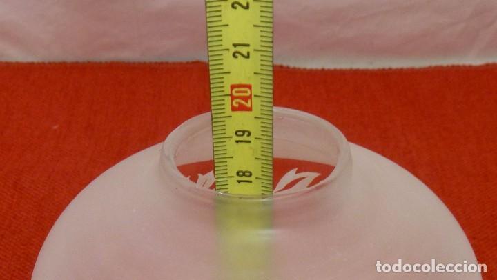 Antigüedades: T-4 - Tulipa De Cristal Decorada Al Acido. 19.5 X 12 Cm. - Foto 6 - 203955860