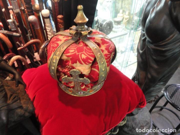 Antigüedades: GRAN CORONA DE LATON - Foto 2 - 203960570