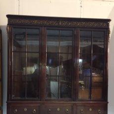 Antiquités: VITRINA INGLESA DE CAOBA, ESTILO IMPERIO S.XX. Lote 203972722