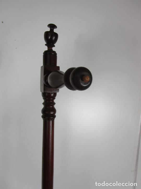 Antigüedades: Decorativo Mueble de Lavabo, Isabelino - Toallero en Madera de Caoba y Marquetería - S. XIX - Foto 19 - 231430090