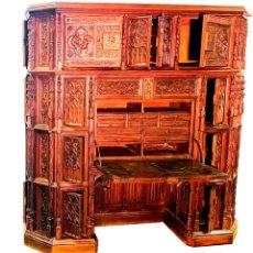 Antigüedades: ESCRITORIO FRANCÉS TALLADO A MANO. Lote 203985531