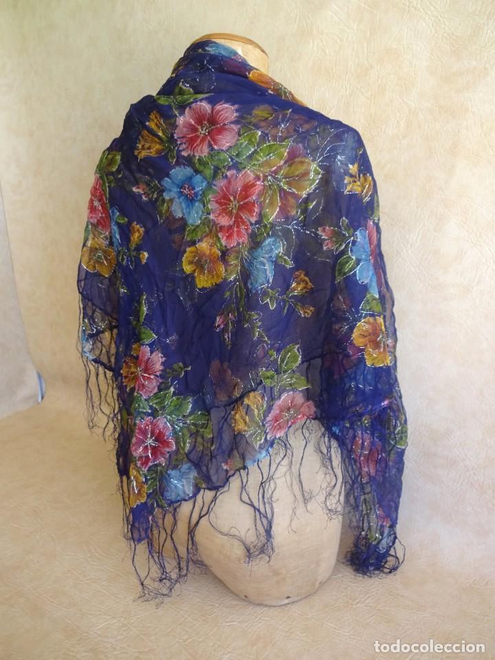 Antigüedades: antiguo manton con motivos florales - Foto 3 - 203992712