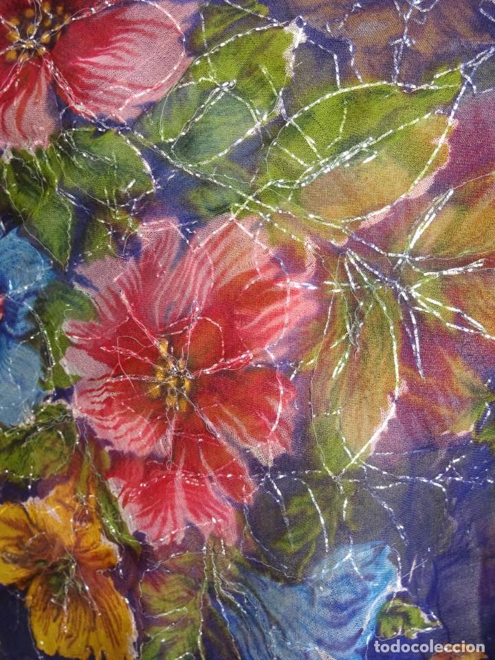 Antigüedades: antiguo manton con motivos florales - Foto 5 - 203992712