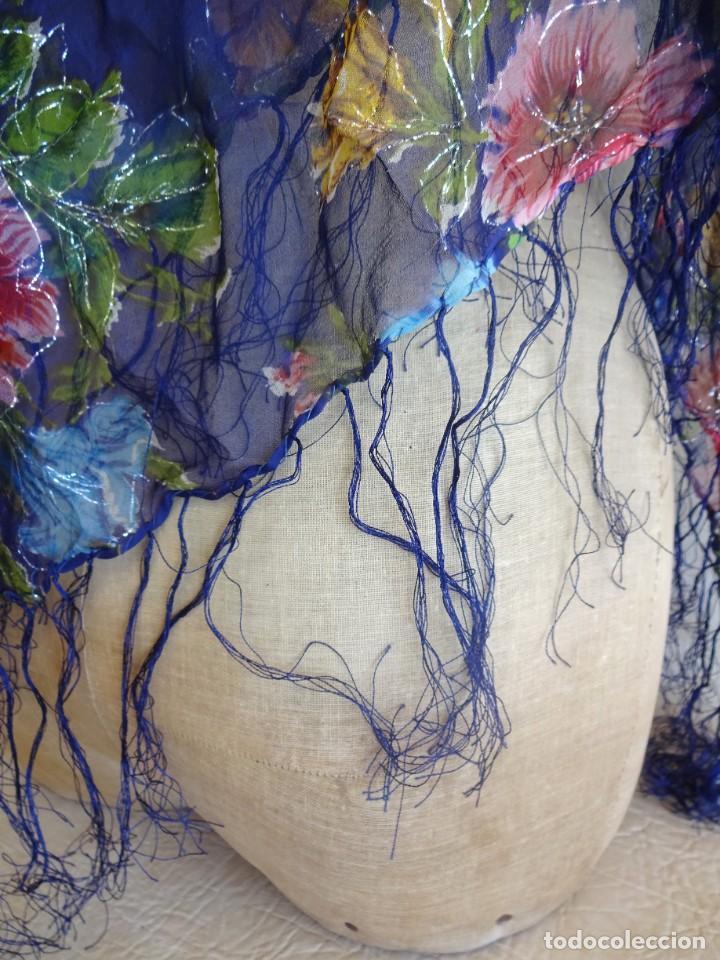 Antigüedades: antiguo manton con motivos florales - Foto 6 - 203992712