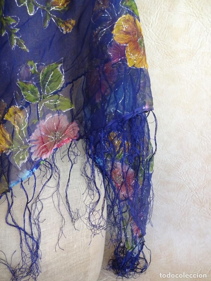 Antigüedades: antiguo manton con motivos florales - Foto 7 - 203992712