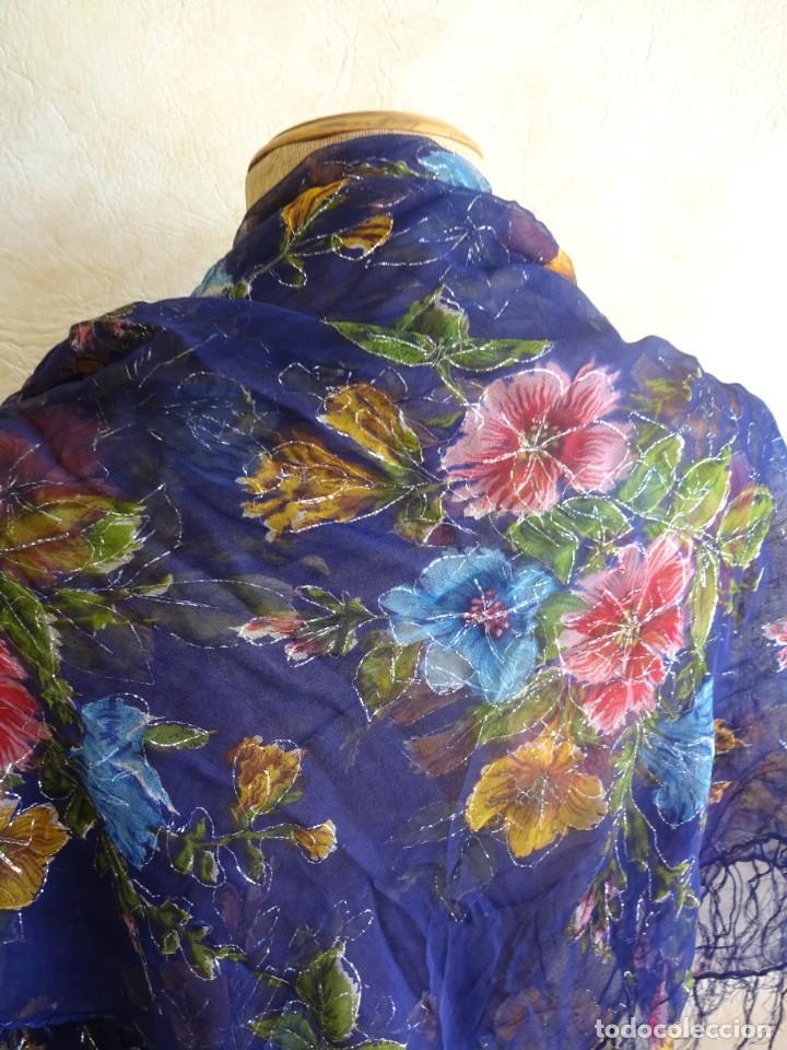 Antigüedades: antiguo manton con motivos florales - Foto 8 - 203992712