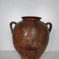 Antigüedades: ANTIGUA TINAJA - CERÁMICA DE PIERA - TERRISSA POPULAR CATALANA - S. XIX. Lote 204008288