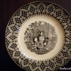 Antigüedades: PLATO DE LOZA ESTAMPADA DE CARTAGENA. SIGLO XIX FÁBRICA LA AMISTAD. Lote 203920341