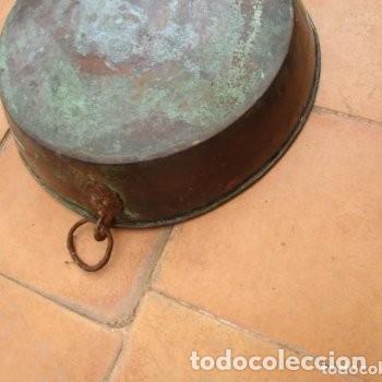 Antigüedades: 2 FUENTES O CUENCOS O CENTROS DE MESA DE COBRE - Foto 3 - 204057915