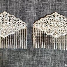 Antigüedades: PEINETAS DE PLATA FILIGRANA. Lote 204060491
