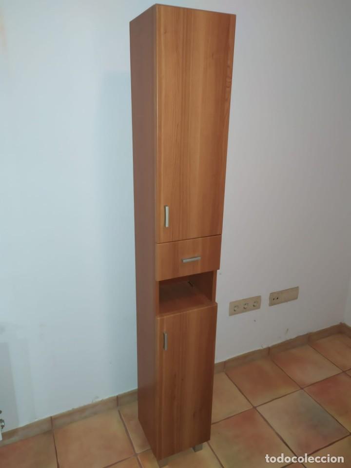 Antigüedades: Mueble baño con lavabo incluido + armario secundario - Foto 4 - 203660453