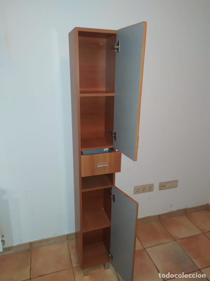 Antigüedades: Mueble baño con lavabo incluido + armario secundario - Foto 5 - 203660453