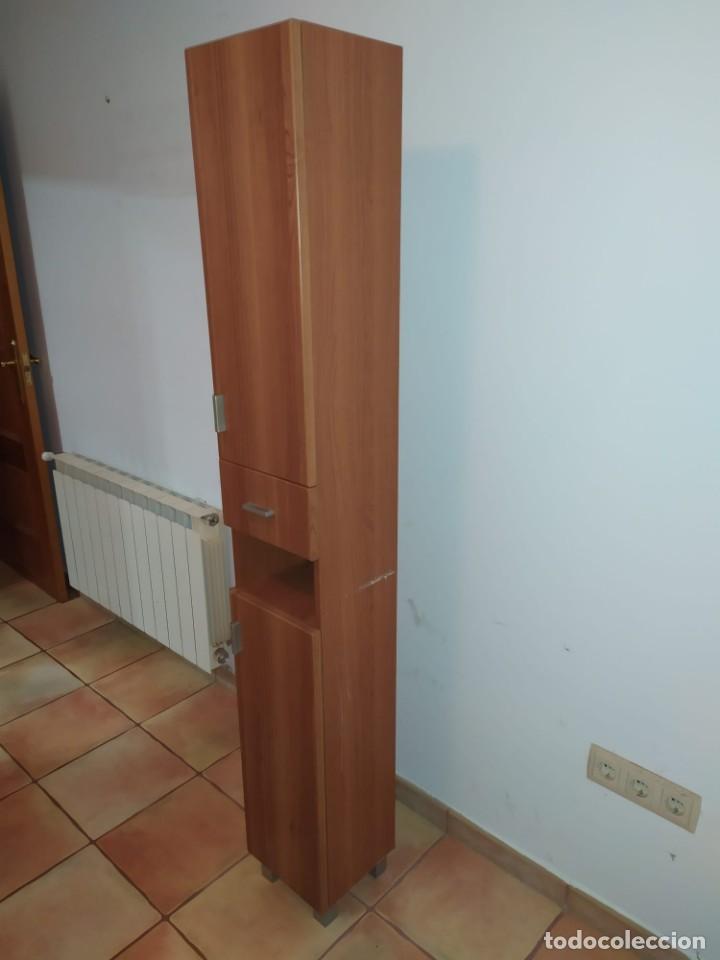 Antigüedades: Mueble baño con lavabo incluido + armario secundario - Foto 6 - 203660453