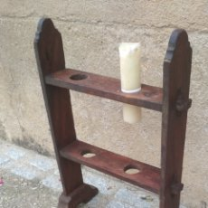 Antigüedades: PORTA CIRIOS ANTIGUO.. Lote 204093650