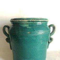 Antigüedades: FANTASTICA ORZA DE TRIANA CON ASAS DE TIRABUZON. Lote 204112268