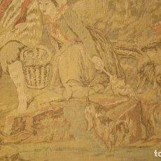 Antigüedades: TAPIZ DE PARED CON IMAGEN BUCÓLICA. Lote 204128720