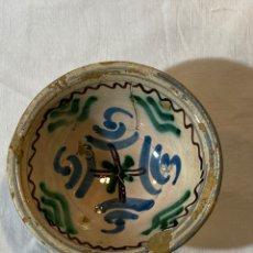 Antigüedades: CUENCO EN CERÁMICA DE MUEL O ZARAGOZA, S. XVII. Lote 204130032