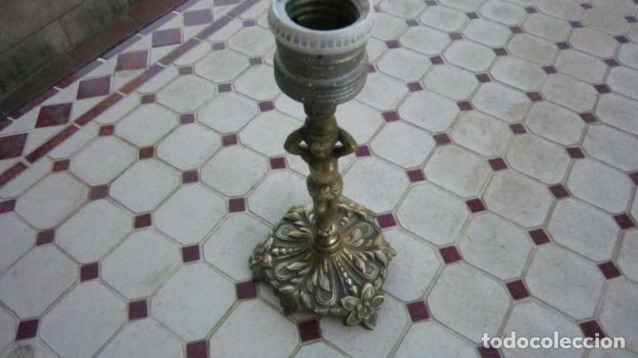 Antigüedades: LAMPARA DE BRONCE EN BUEN ESTADO - Foto 3 - 204131982