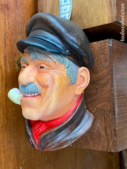 Antigüedades: cabeza busto cara pintada a mano ultrarealista en caja - legend made in britain - marinero - Foto 2 - 204153110