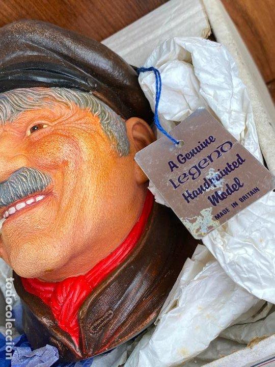 Antigüedades: cabeza busto cara pintada a mano ultrarealista en caja - legend made in britain - marinero - Foto 4 - 204153110