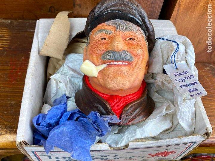 Antigüedades: cabeza busto cara pintada a mano ultrarealista en caja - legend made in britain - marinero - Foto 6 - 204153110