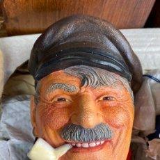 Antigüedades: CABEZA BUSTO CARA PINTADA A MANO ULTRAREALISTA EN CAJA - LEGEND MADE IN BRITAIN - MARINERO. Lote 204153110