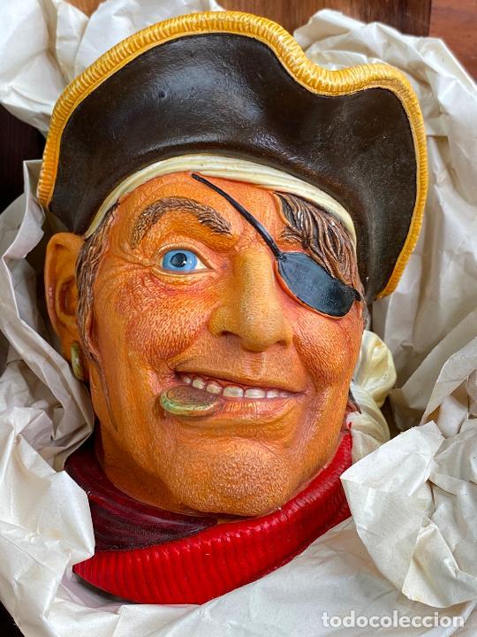 Antigüedades: cabeza busto cara pintada a mano ultrarealista en caja - El pirata - legend made in england - Foto 2 - 204153337