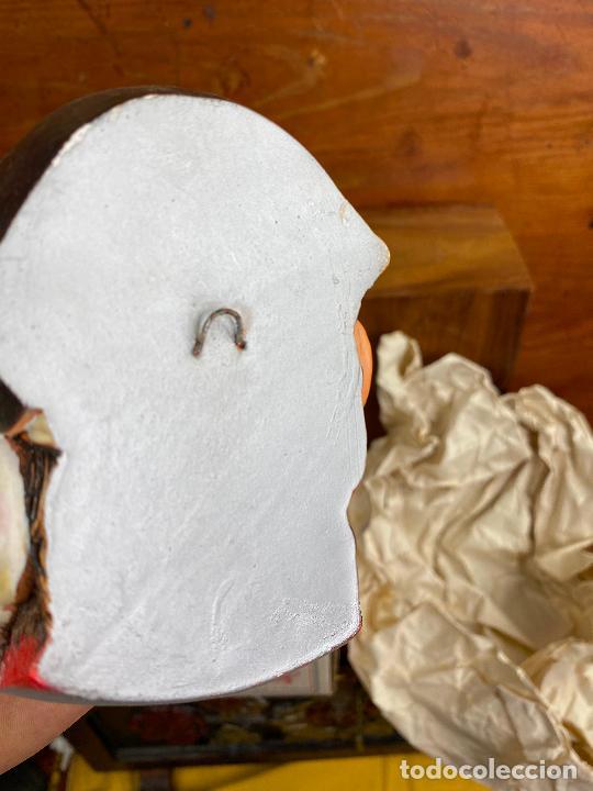 Antigüedades: cabeza busto cara pintada a mano ultrarealista en caja - El pirata - legend made in england - Foto 4 - 204153337