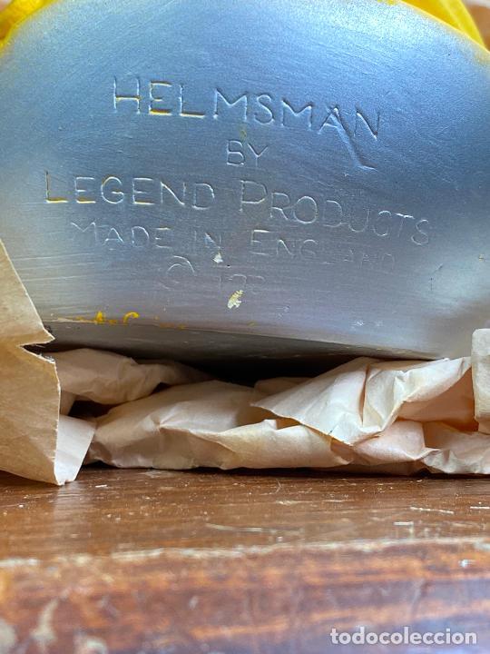 Antigüedades: cabeza busto cara pintada a mano ultrarealista en caja - Helsman legend made in england - Foto 6 - 204158097