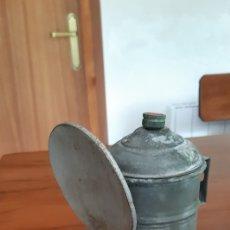 Antigüedades: ANTIGUA LAMPARA O QUINQUE DE CARBURO. Lote 204160821